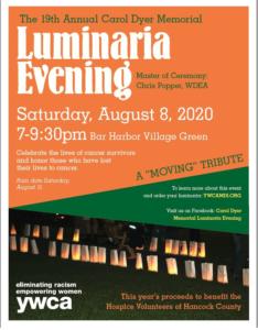 2020 Luminaria Evening poster